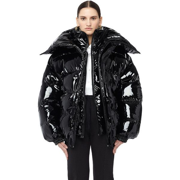 525ea318 Vetements Miss Webcam Vinyl Puffer Jacket ($4,640) ❤ liked on Polyvore  featuring outerwear, jackets, vinyl jacket, vetements jacket, puffer jacket  and ...