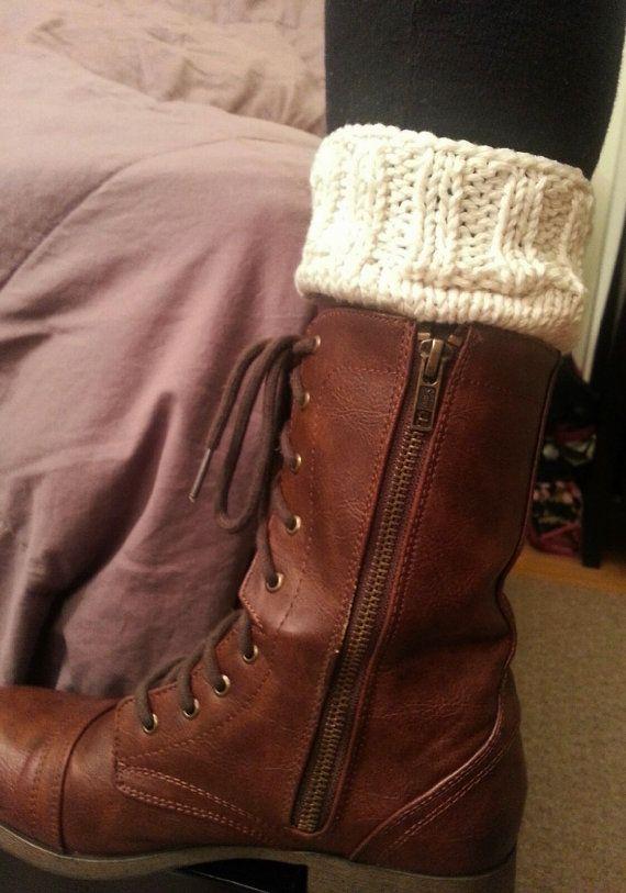 35e7b38e6e1f Winter Boot Cuffs Knit Toppers Leg Warmers Knit by StinaCole, $22.00 ...
