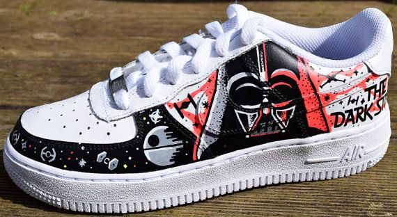 STAR WARS PAiNTED SHOES custom kicks sneakers graffiti hand vans converse  nike mens womens kids adidas customised costume clothing rogue one