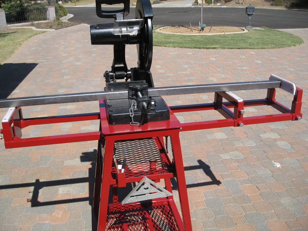 Chop saw mobile workstation page 3 tools pinterest for Fabrication stand