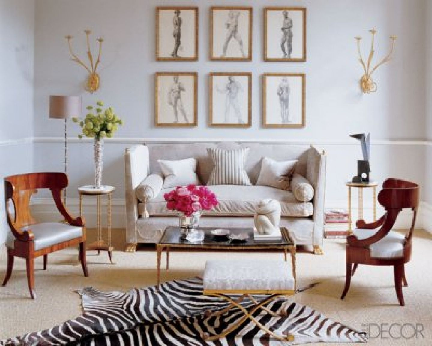 Zebra Rug Living Room Apartment Living Room Home Interiors Pinterest Living