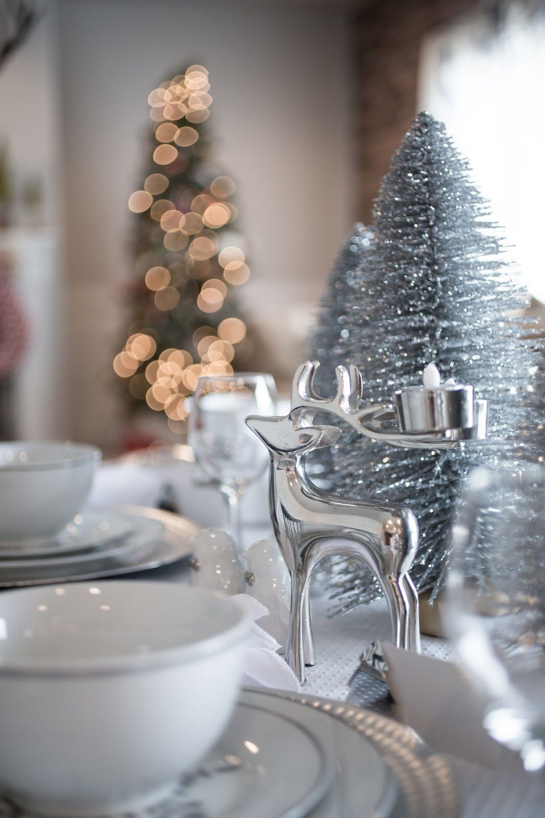 Wedding decorations dollar tree  Silver Snowflake Christmas Table  Christmas just around the corner