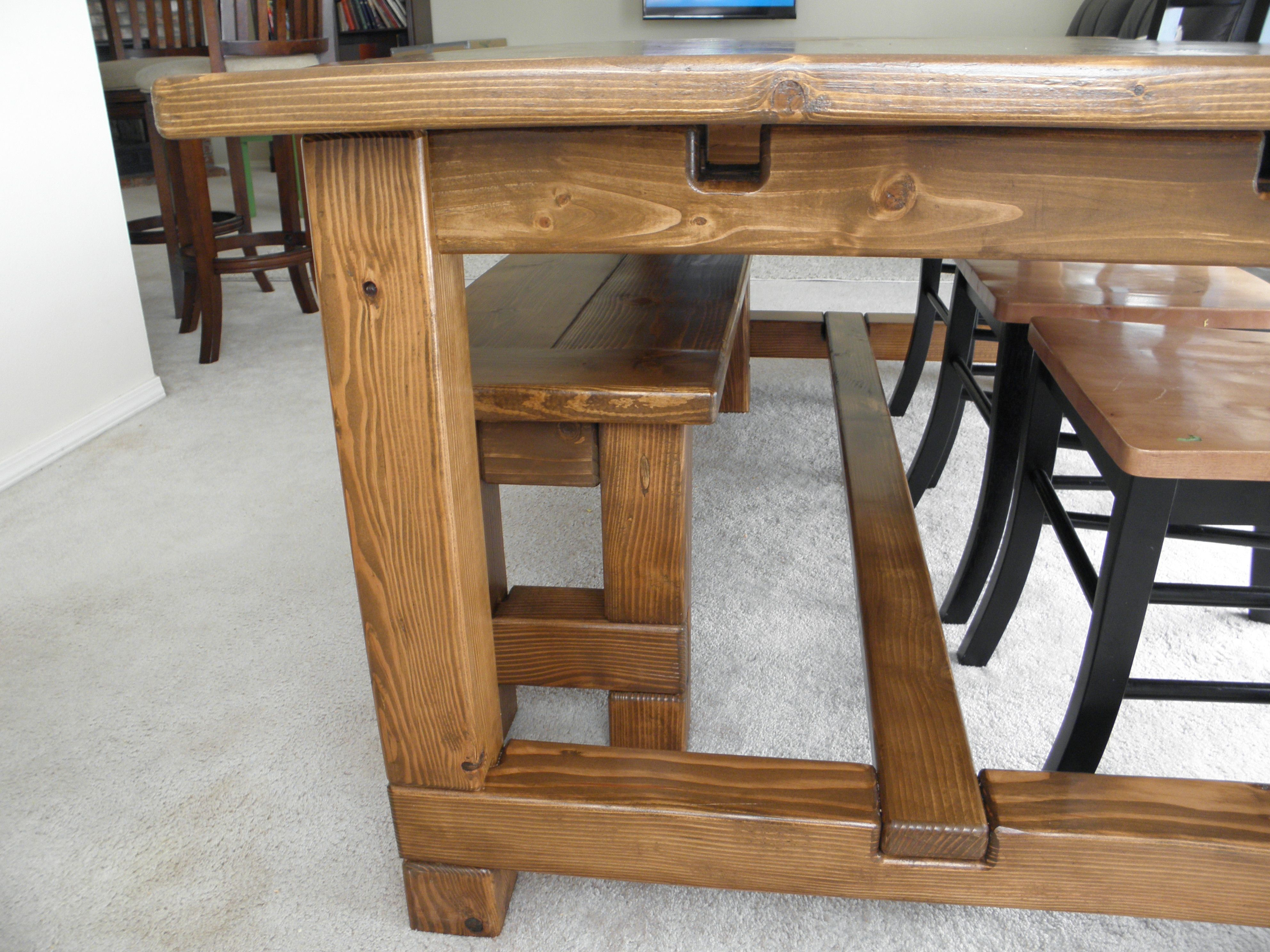 Plans For Farmhouse Table With Extensions Farmhouse