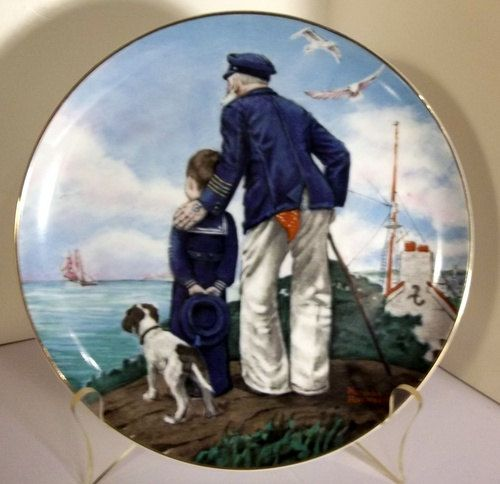 Norman Rockwell Collectors Plate Looking Out To by ChickCountry, $12.95