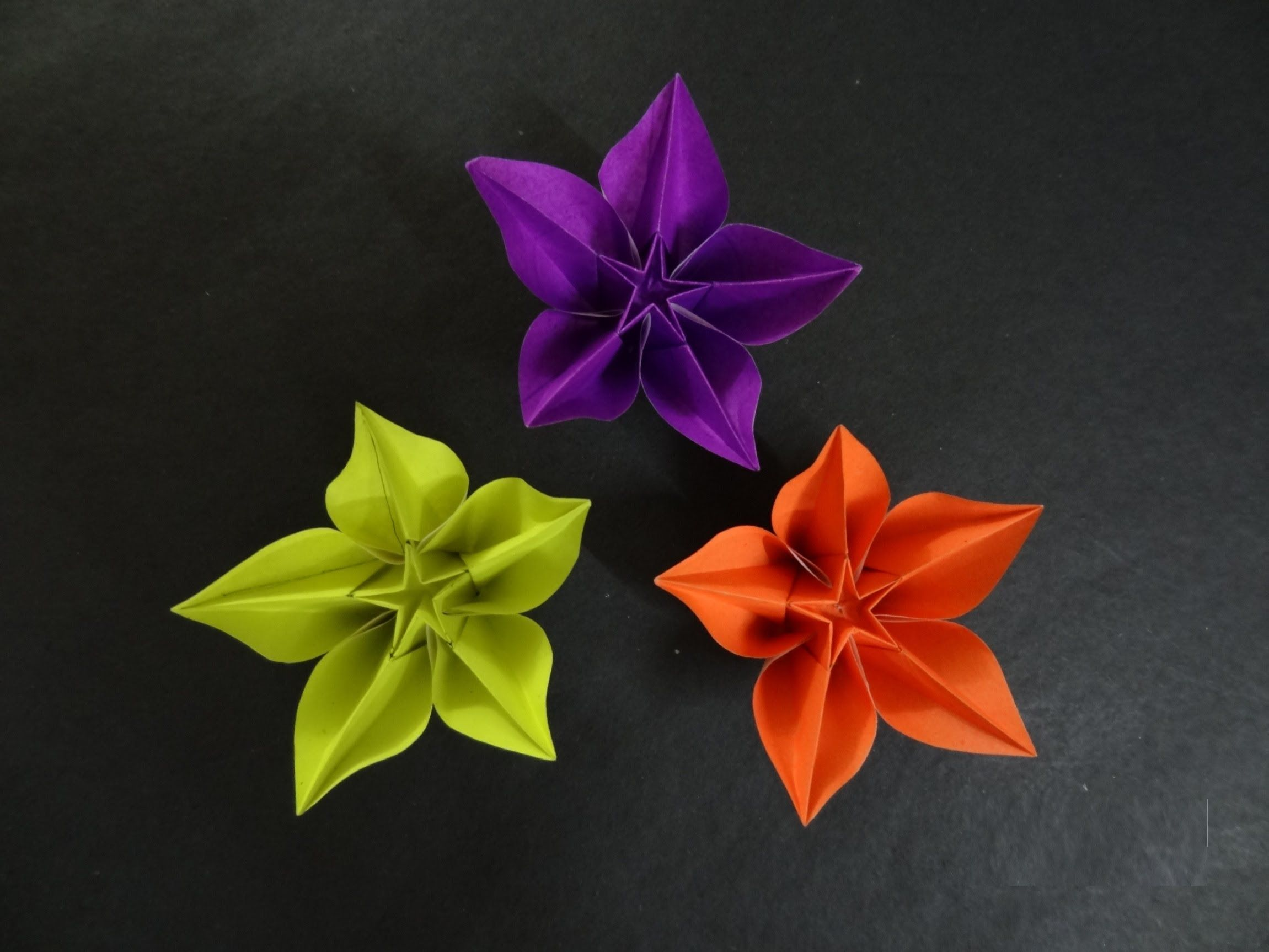 carambola flower origami diagram prodigy brake controller wiring tutorial how to fold