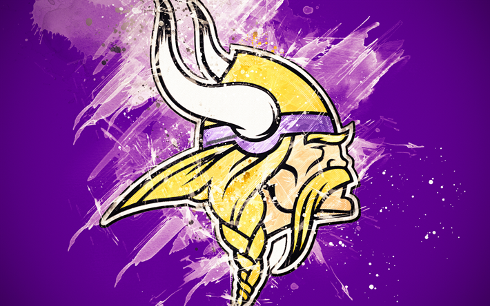 Download wallpapers Minnesota Vikings, 4k, logo, grunge