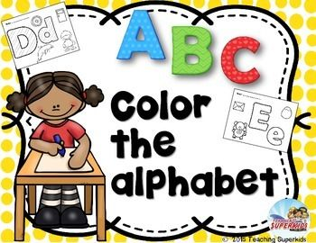 Alphabet Coloring PagesThis set has 26 adorable alphabet coloring pages that your little ones will love to complete.  Each page has an upper and lowercase letter to color as well as 3-4 objects that begin with the same letter.  This is a great way to practice letter and sound recognition.Save money and purchase the bundle which includes this set!If you are looking for additional Alphabet activities please check out my Alphabet Activity Bundle set