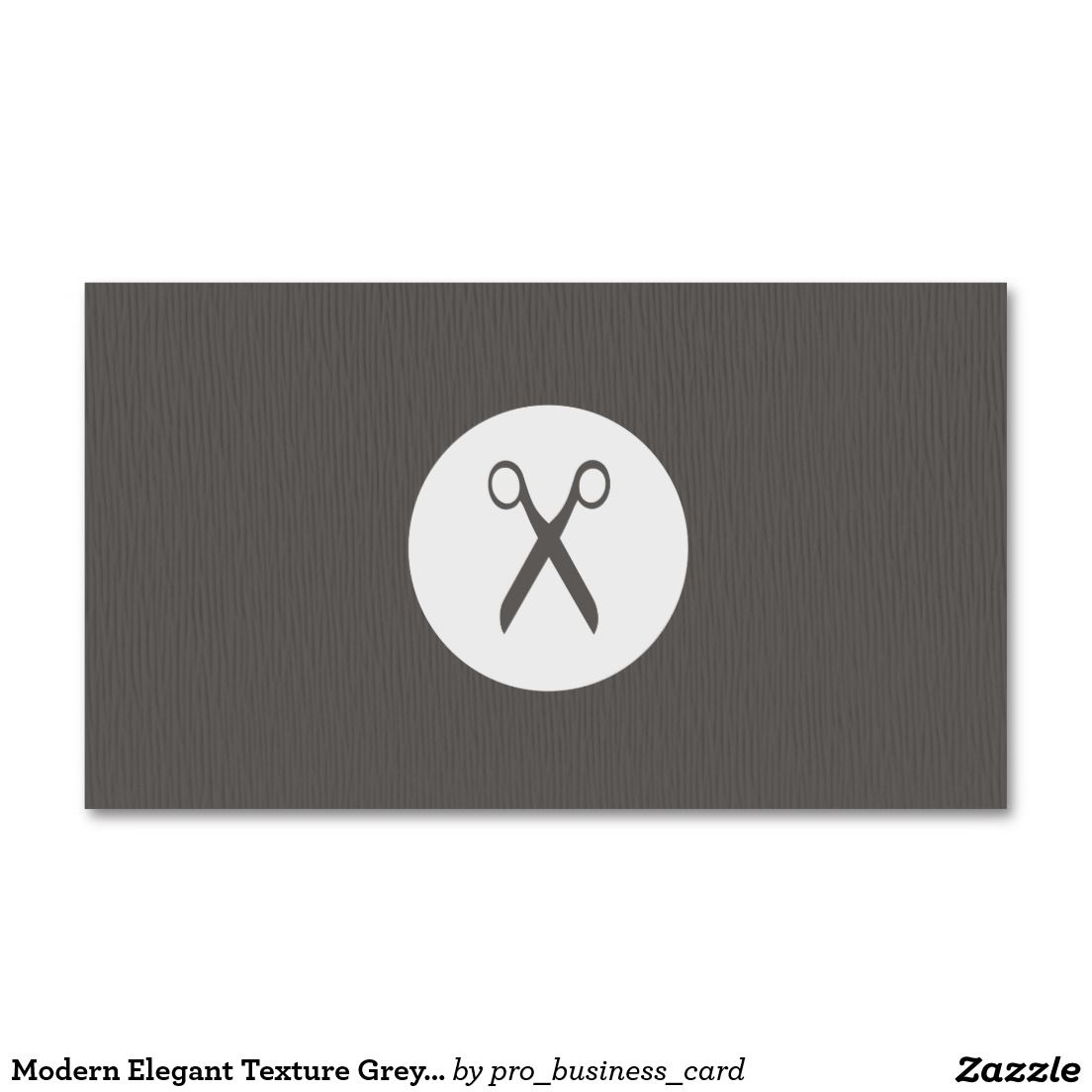 Modern Elegant Texture Grey Scissor Hair Stylist Business Card ...