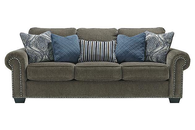ashley furniture navasota sofa in charcoal living room design rh pinterest ch