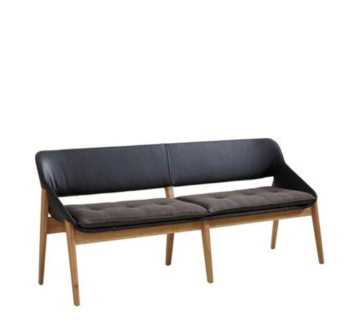 sitzbank in holz leder textil dunkelgrau eichefarben schwarz b nke pinterest sitzbank. Black Bedroom Furniture Sets. Home Design Ideas