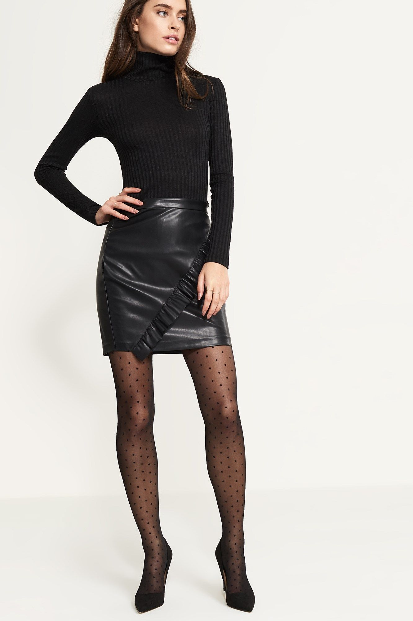 a170d3a32eca8 Dynamite Polka Dot Tights - Add a flirty touch to all your mini skirts and  dresses