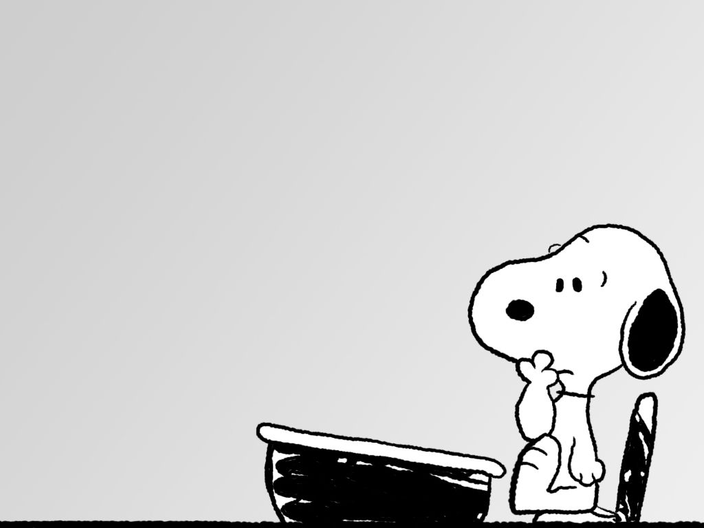 I Know This Face Behind A Desk Very Well Snoopy Wallpaper
