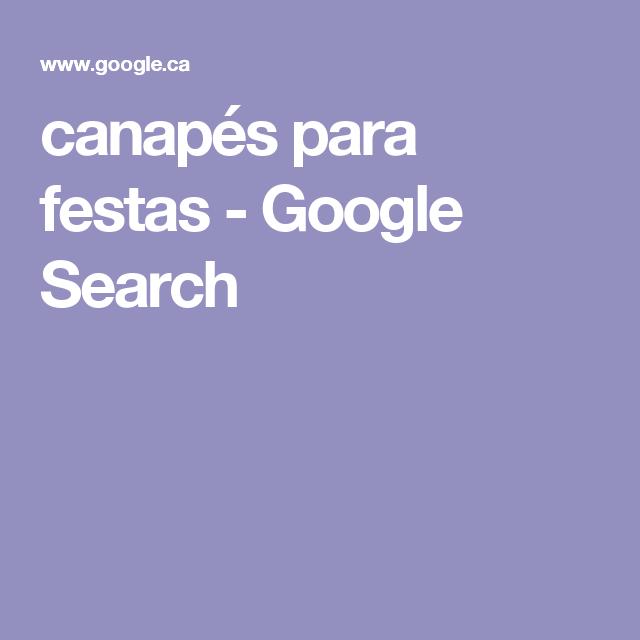 canapés para festas - Google Search