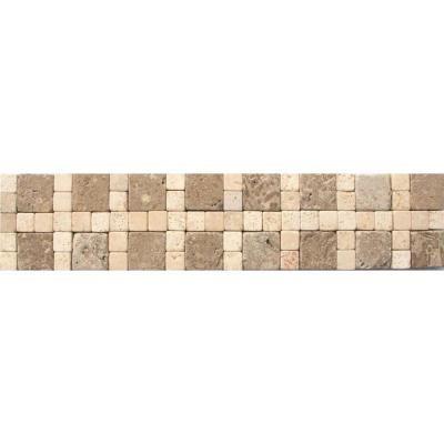 Decorative Travertine Tile Borders Cornerless Travertine Border 3 Inx 12 Infloor & Wall Tile 1