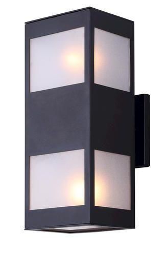 Canarm Ltd Amando 4 3 4 Black Contemporary Outdoor Wall Light