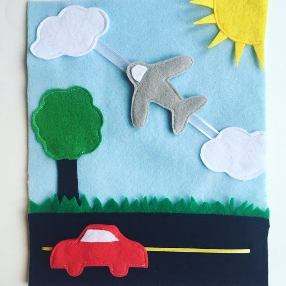 Car Plane Page Move The Plane Back And Forth Across The Sky Drive The Car Along The Road Your Child Will Love This Detail Diy Busy Books Diy Quiet Books