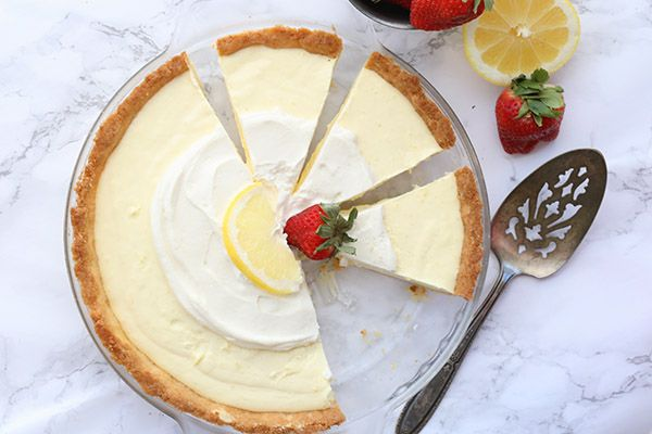 Lemon Sour Cream Pie Lemon Sour Cream Pie Sour Cream Lemon Pie Recipe Low Carb Peanut Butter