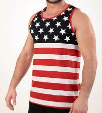 9520c225a41304 MEN S STARS AND STRIPES TANK TOP USA FLAG SLEEVELESS SHIRT AMERICAN PRIDE  S-XL