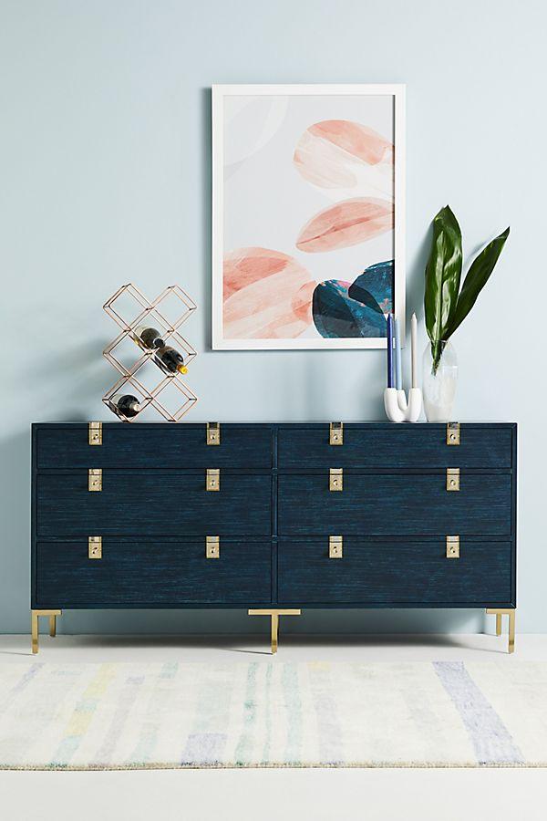 Ingram SixDrawer Dresser (With images) Unique bedroom