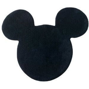 Amazon Com Disney Mickey Mouse Shaped Bath Rug Home Garden Mickey Mouse Bathroom Mickey Mouse Bedroom Disney Home Decor