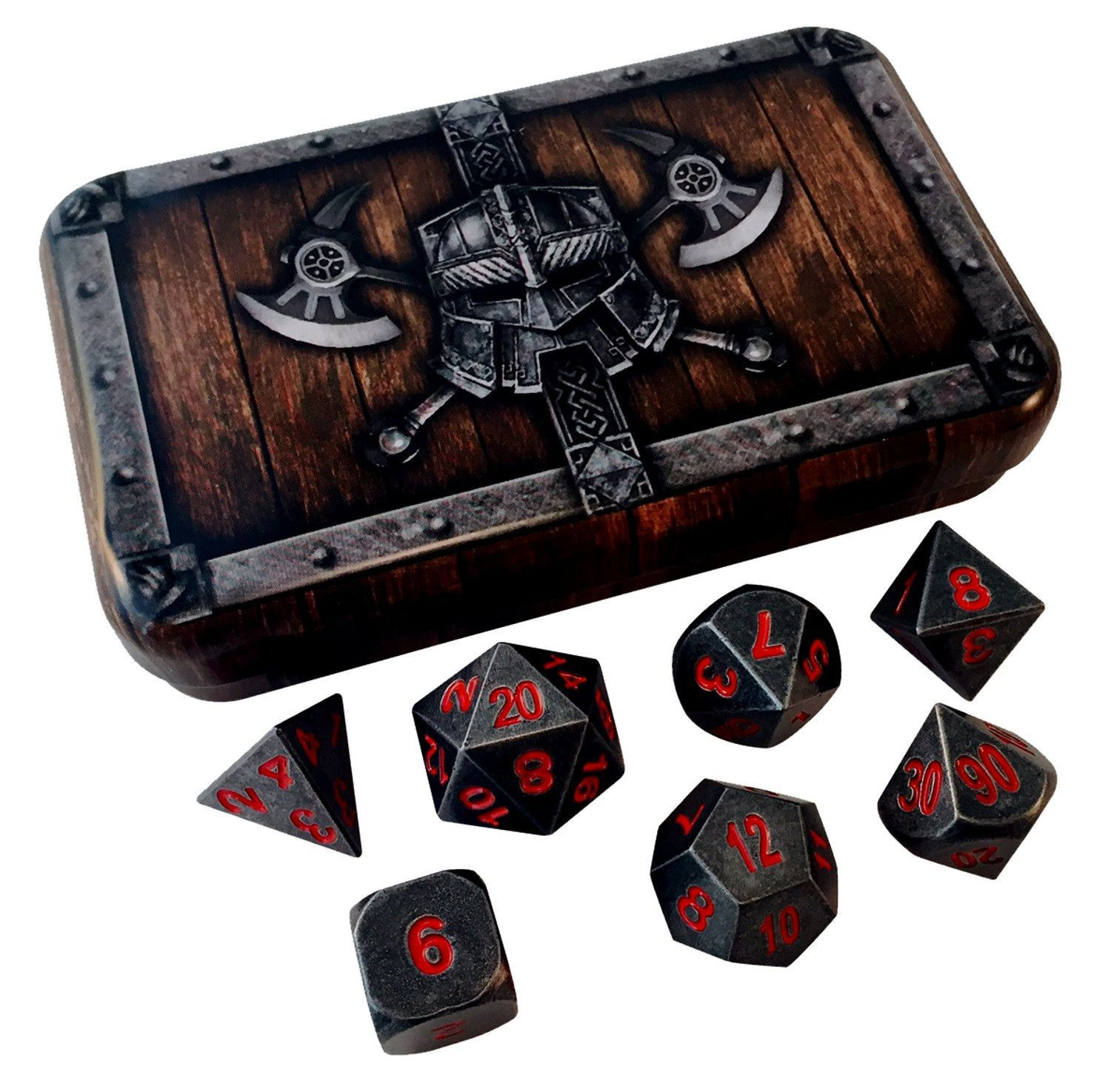 Chest Game Set Dwarven Chest With Butcher 39s Bill Industrial Gray With