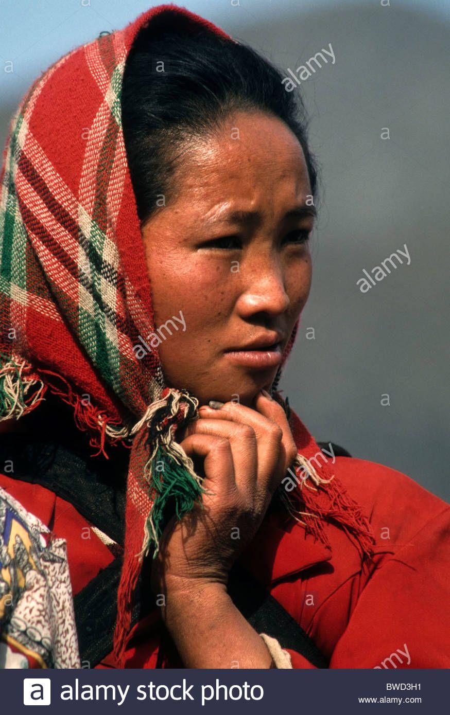 Four-Seal Miao woman, Guizhou, China Stock Photo