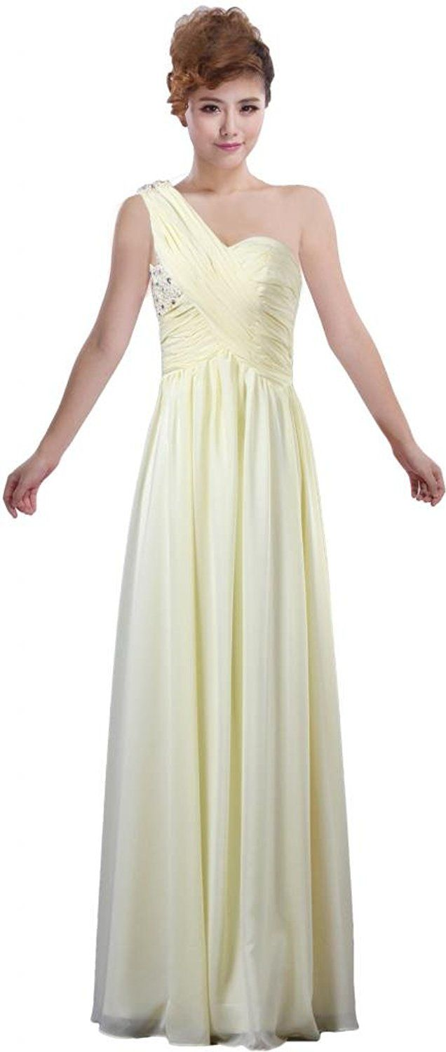 Ants womenus one shoulder long bridesmaid dress for wedding party