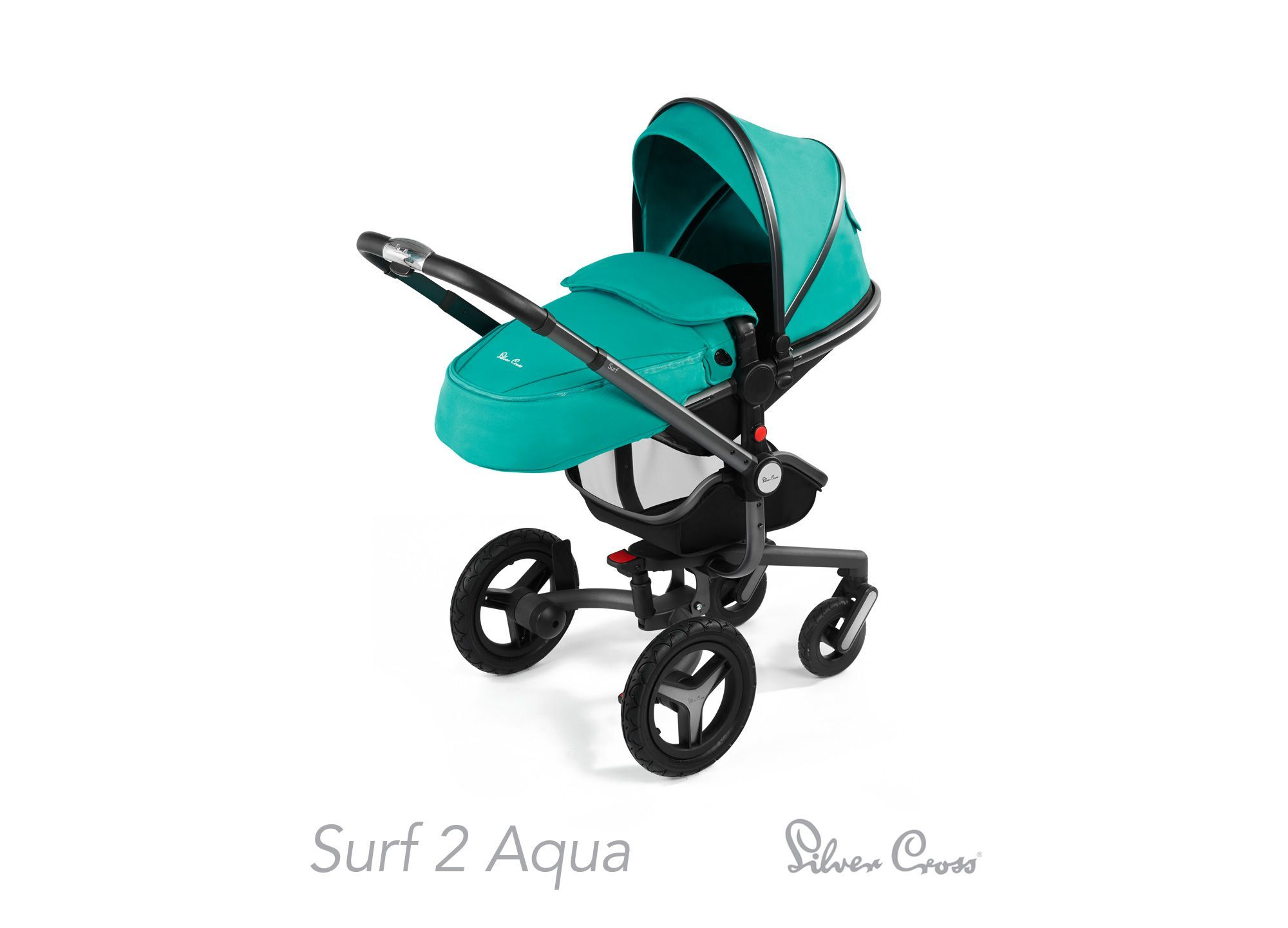 Silver Cross Surf 2 Pram and Pushchair Aqua *Exclusive To