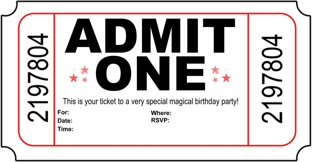 Carnival Party Ticket Invitations To Print Valerie Avlo