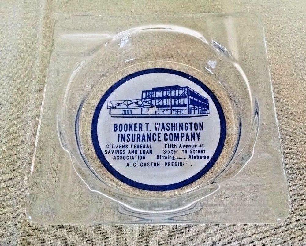 Booker T Washington Insurance Ashtray Citizen Federal S L