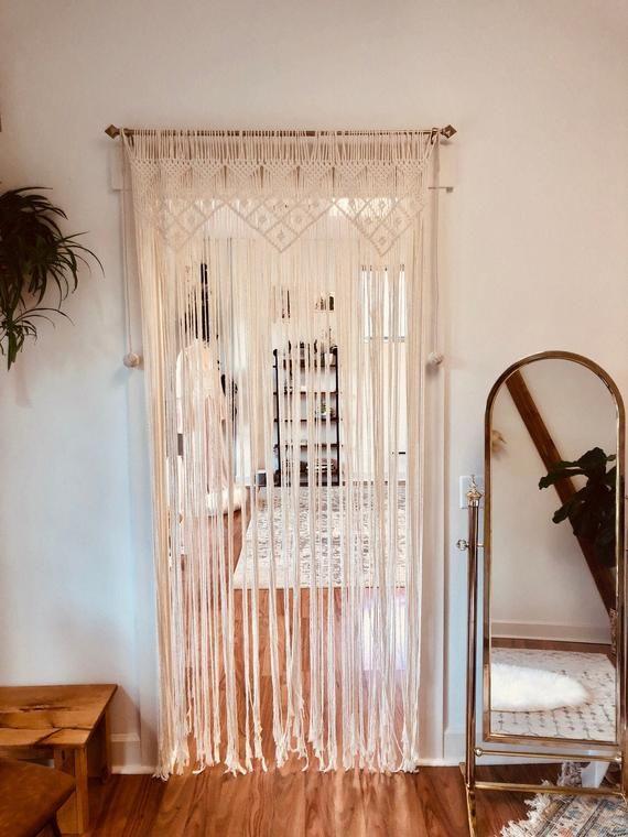 Türvorhang rustikale TürRahmen Vorhang Makramee hängen | Etsy