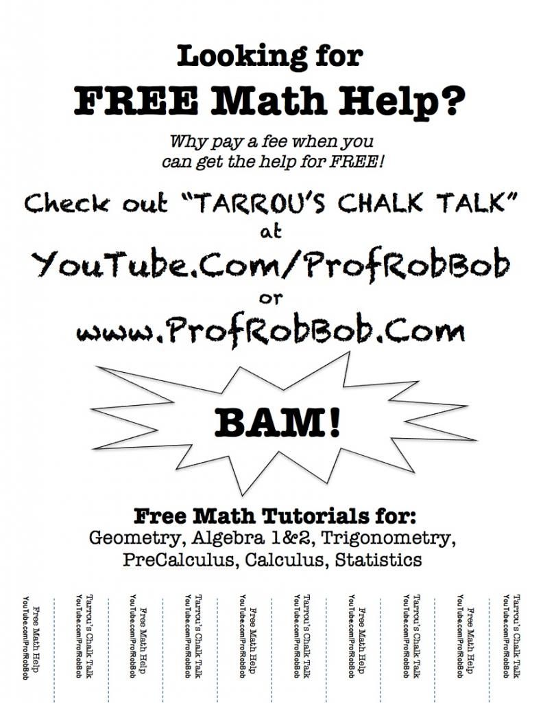Free Math Help – Click to checkout \