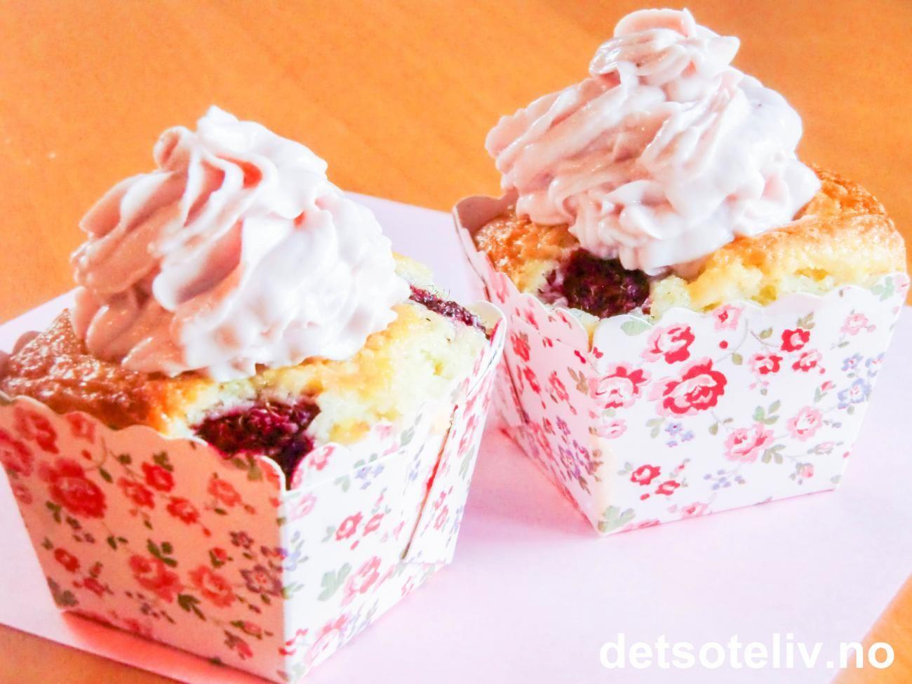 Fettfrie cupcakes   Det søte liv