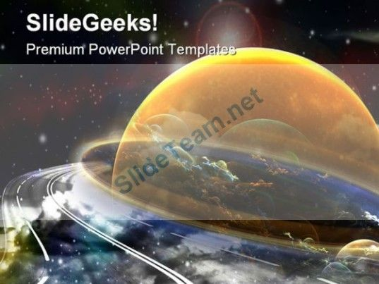Space Route Globe PowerPoint Template 0610 #PowerPoint #Templates #Themes #Background