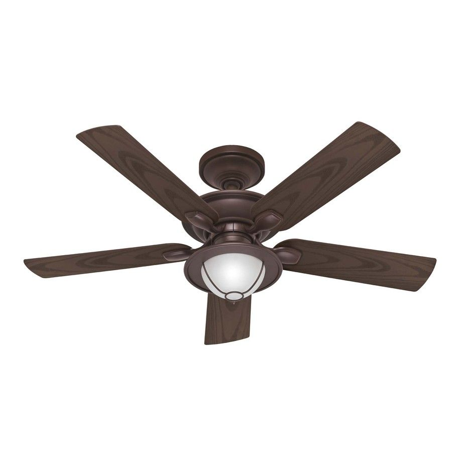Shop Hunter 52 In Maribel New Bronze Ceiling Fan With Light Kit At Lowes Com Ceiling Fan Wet Rated Ceiling Fans Best Ceiling Fans