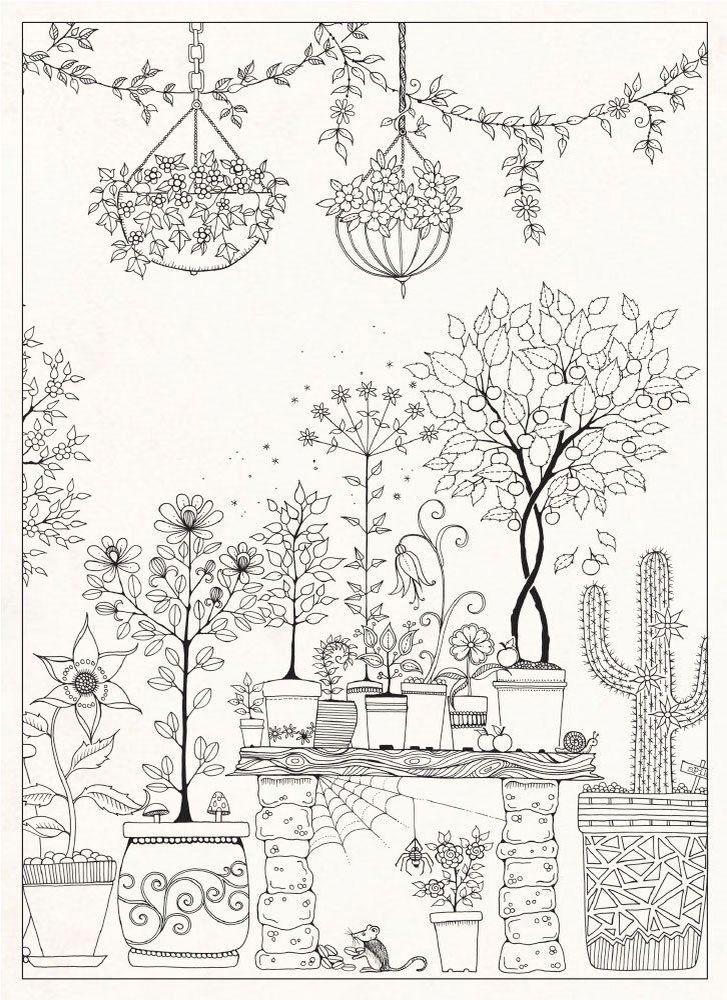 Jardin Fleuri Avec Images Coloriage Coloriage Nature Dessin