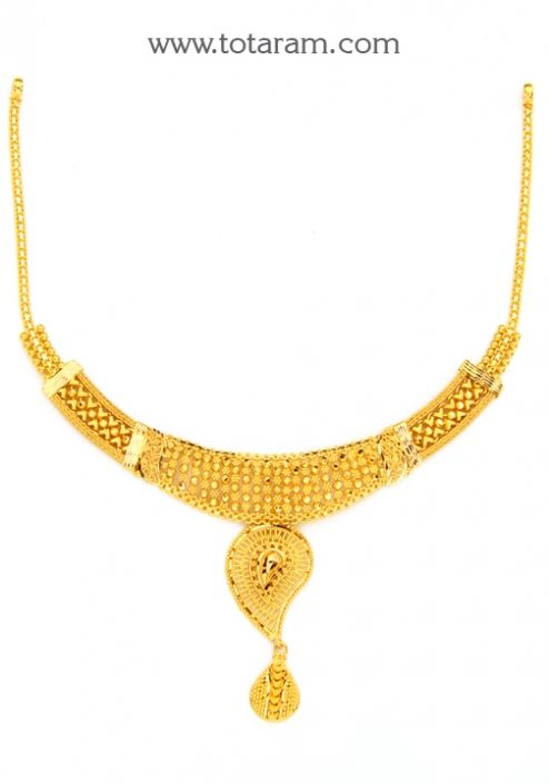 22K Gold Necklace Totaram Jewelers Buy Indian Gold jewelry 18K