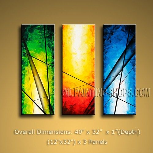 Amazing Tri Panel Wall Art Decorating Ideas Modern Art Abstract 40 ...