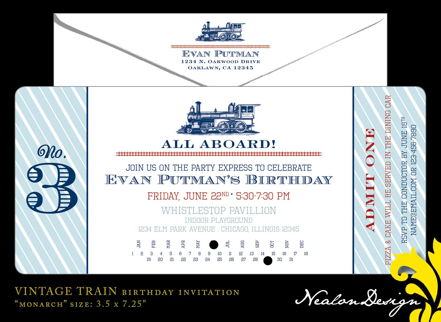 Invitations With Train Themes Nealon Design Vintage TRAIN  C3dcaa5e5e47d1cf613ea6c37af8c450 575827502326616236. Ticket Invitation Maker  Concert Ticket Template Free Printable