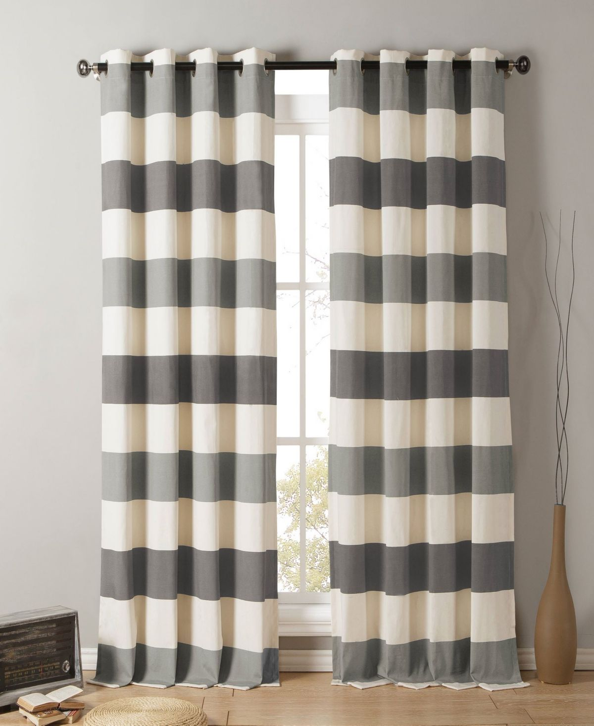 Duck River Textile Iouri 54 X 84 Striped Curtain Set Reviews