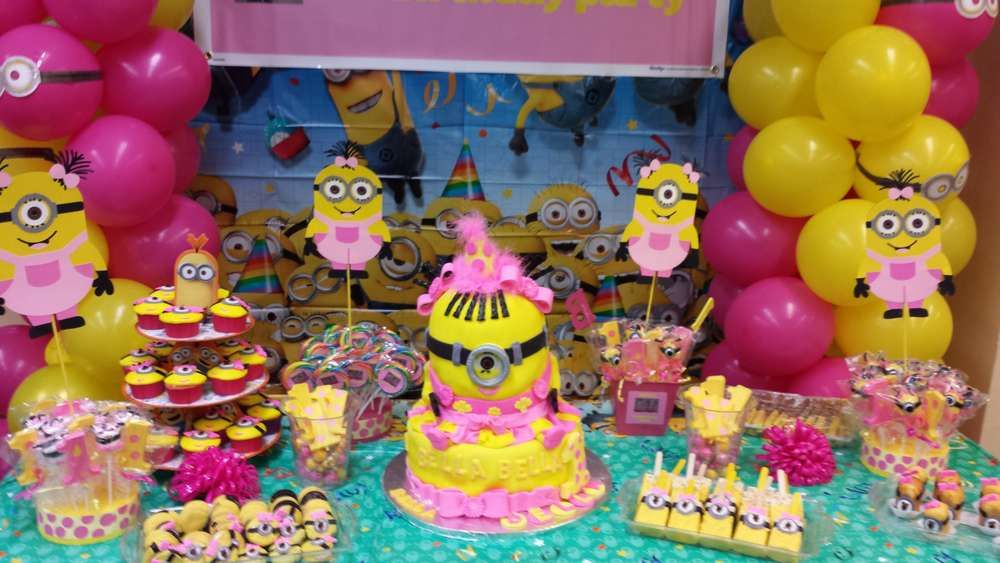 DIY Party Supplies Digital Download Girl Minion Inspired Birthday Party Package