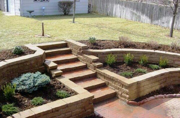 Best Basement Walkout Garden Stairs Backyard Landscaping 400 x 300