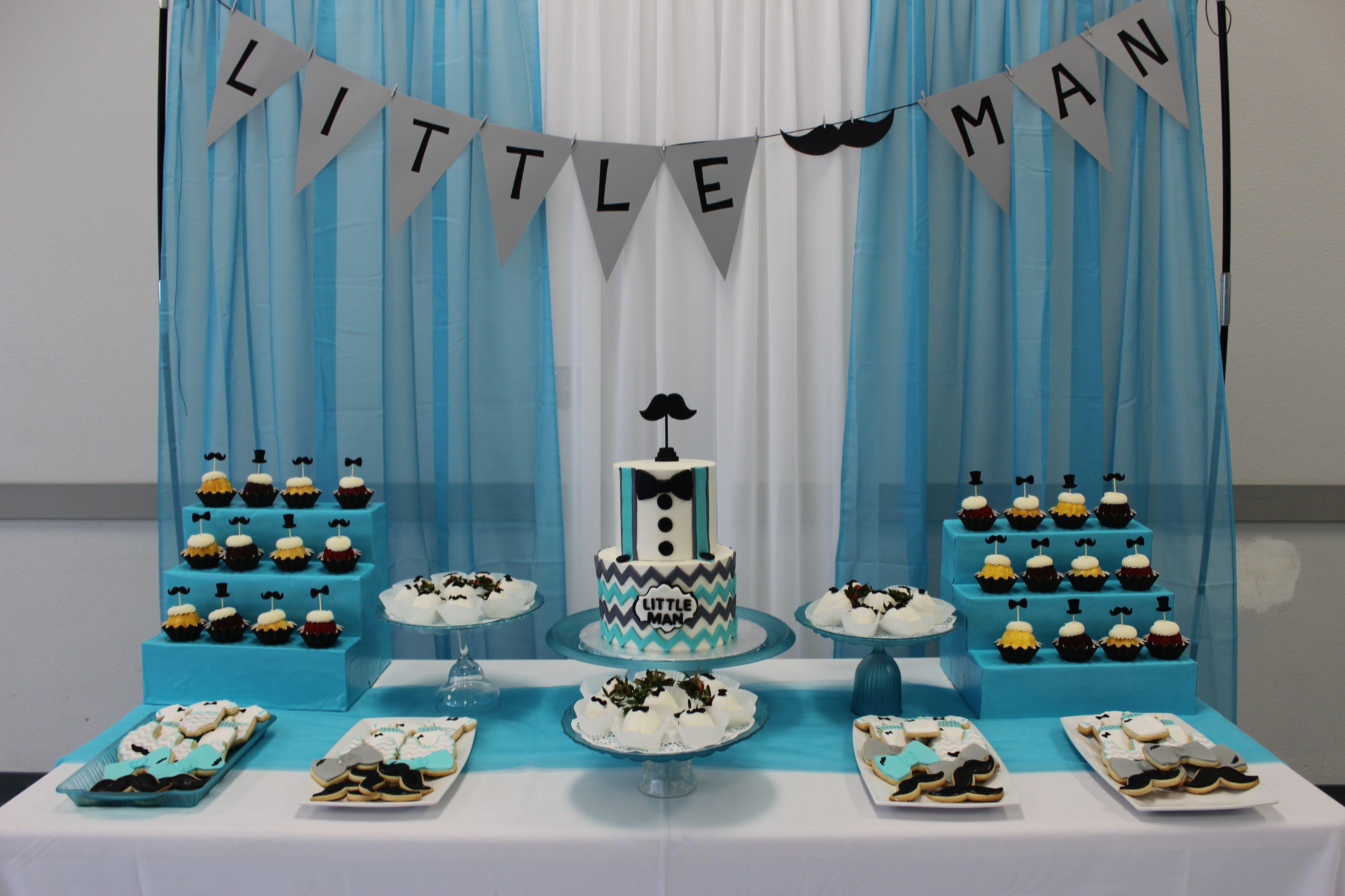 Little Man Baby shower theme #babyshowerideasfortwins  Boy baby