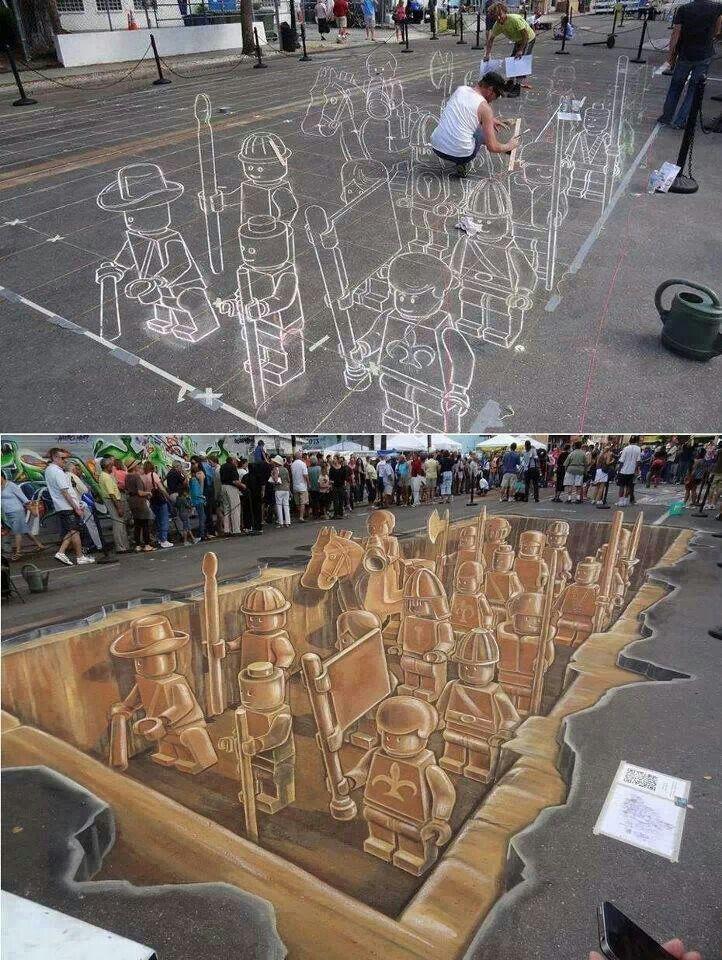 I love 3D street art ★