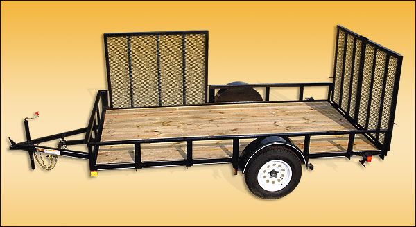 Standard features cargo trailer 4 2 990 lbs gvwr gross for 6x12 wood floor trailer