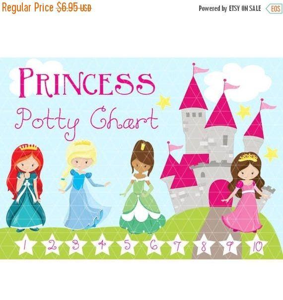 Princess Potty Chart - Reward Chart - Reward System - Family