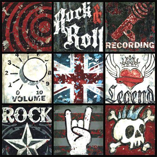 Rock-n-Roll Youth Wall Art - Aaron Christensen   Bedroom E ...