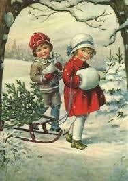 bildergebnis f r weihnachtsbilder vintage bildchenkarte. Black Bedroom Furniture Sets. Home Design Ideas