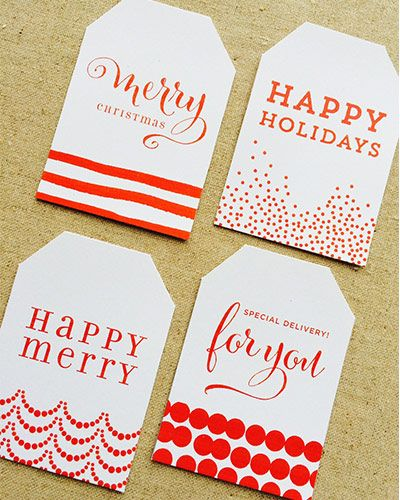 Free Christmas Gift Tags | Design Corral | Wedding Favors and ...