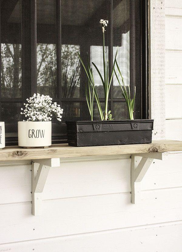 Build An Exterior Window Shelf Window Shelves Window Shelf For